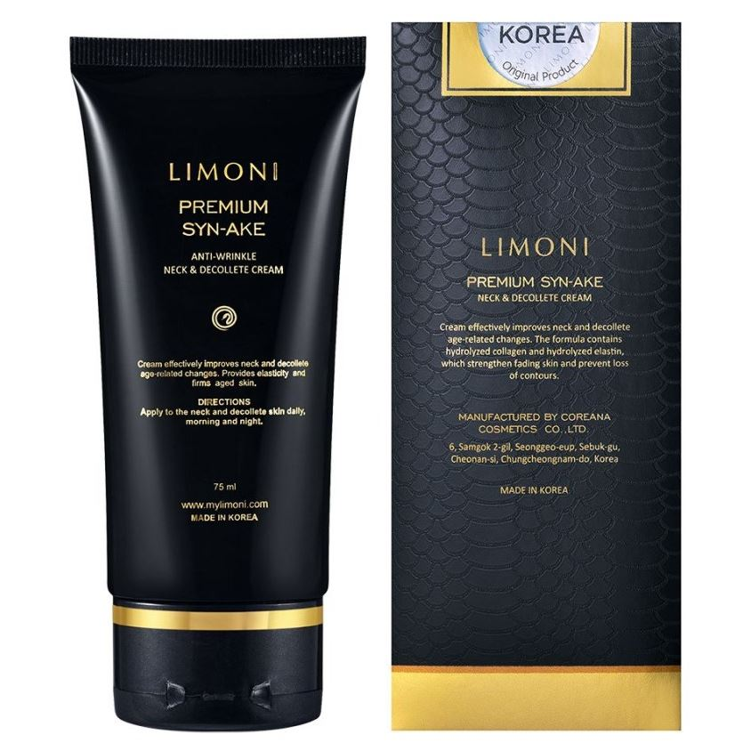 Крем Limoni Premium Syn-Ake Anti-Wrinkle Neck & Decollete Cream 75 мл christina дневной крем абсолютная защита spf 20 bio phyto ultimate defense day cream 75 мл дневной крем абсолютная защита spf 20 bio phyto ultimate defense day cream 75 мл 75 мл
