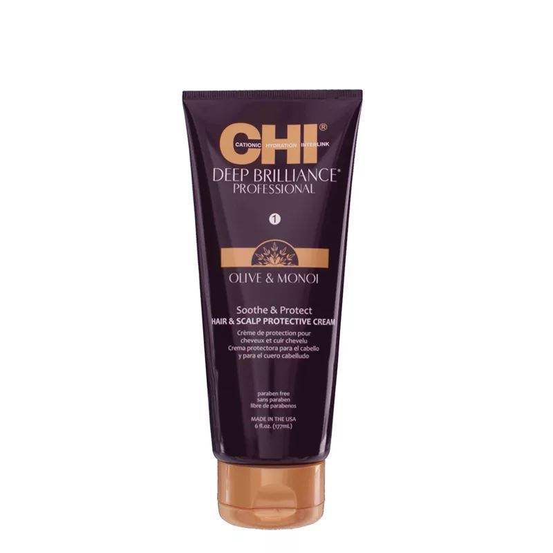 Крем CHI Olive & Monoi Soothe & Protect Hair & Scalp Pronective Cream 177 мл ginger hair scalp massage cream hair mask hair