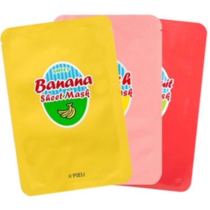 Маска A Pieu Sweet Sheet Mask (Banana & Hohey) косметические маски vescillonia маска для лица с экстрактом миндаля vescillonia enrich facial mask 5 шт