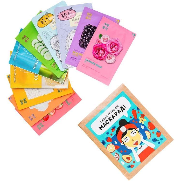 Маска Holika Holika Mask Sheet Set (10 шт) маска holika holika aloe 99% soothing gel jelly mask sheet