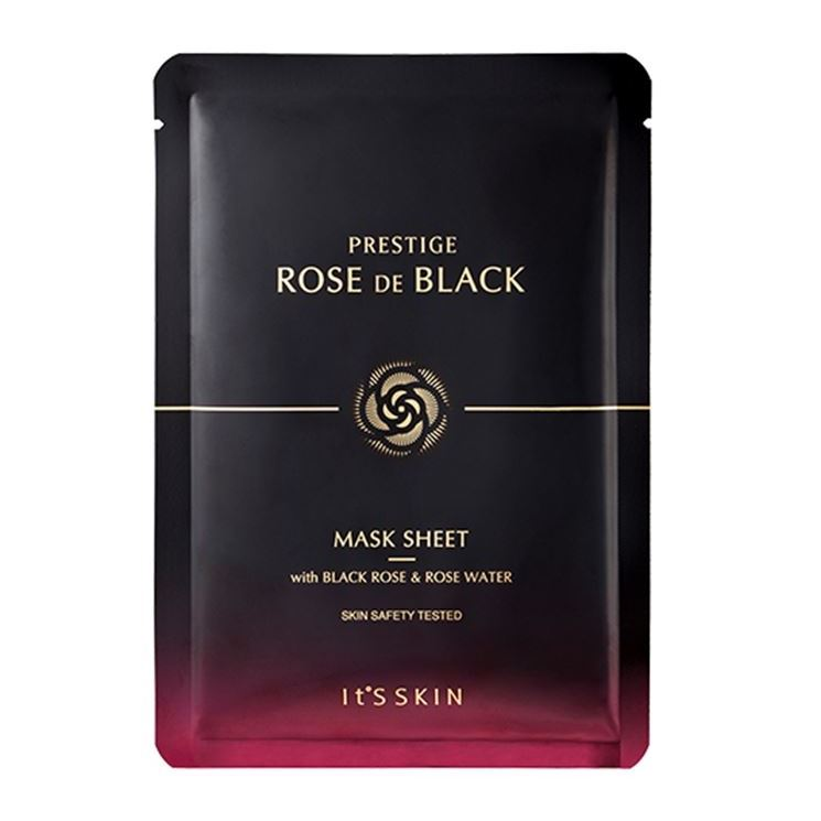 Маска It s Skin Prestige Rose De Black Mask Sheet (1 шт) маска it s skin green tea watery mask sheet 1 шт