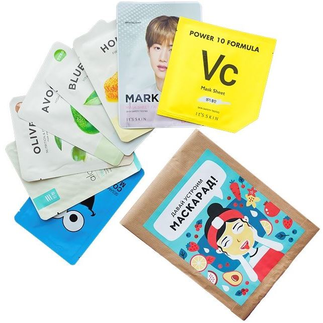 Маска It s Skin Mask Sheet Set (8 шт) маска it s skin green tea watery mask sheet 1 шт