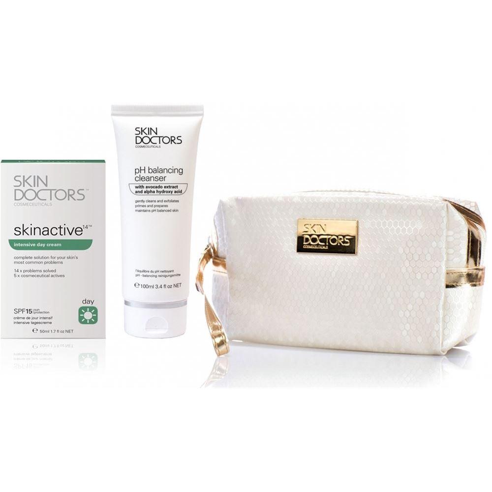 Набор Skin Doctors Skinactive14™ Day Care 2 Set  (Набор: крем, 50 мл + очищающее средство, 100 мл + косметичка) уход skin doctors набор дневной уход
