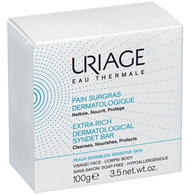 Мыло Uriage Extra-Rich Dermatological Syndet Bar (100 г) гель uriage extra rich dermatological gel 1000 мл