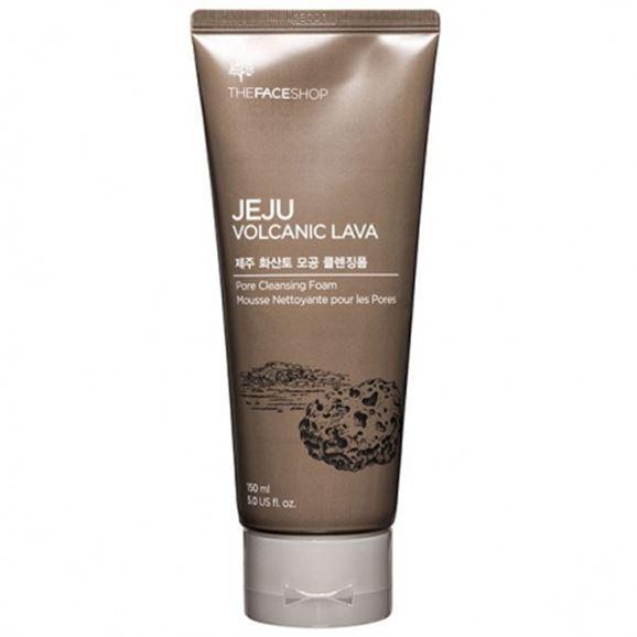 Пенка The Face Shop Jeju Volcanic Lava Pore Cleansing Foam 150 мл очищающая угольная маска ciracle jeju volcanic pore tightening mask