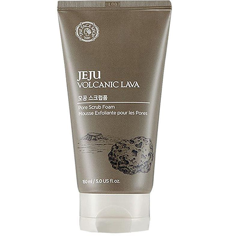 Скраб The Face Shop Jeju Volcanic Lava Pore Scrub Foam 150 мл очищающая угольная маска ciracle jeju volcanic pore tightening mask