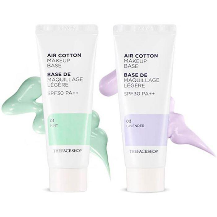 База под макияж The Face Shop Air Cotton Make Up Base SPF30 PA++ (02) the saem real fit make up base