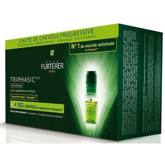 Ампулы Rene Furterer Triphasic Сыворотка против выпадения волос (8 ампул) rene furterer сыворотка rene furterer karite для очень сухих и поврежденных волос