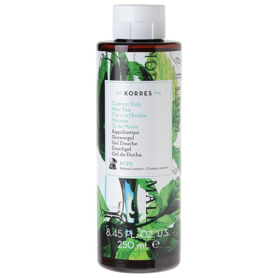 Гель для душа Korres Shower Gel Mint Tea 250 мл гель для душа korres shower gel almond