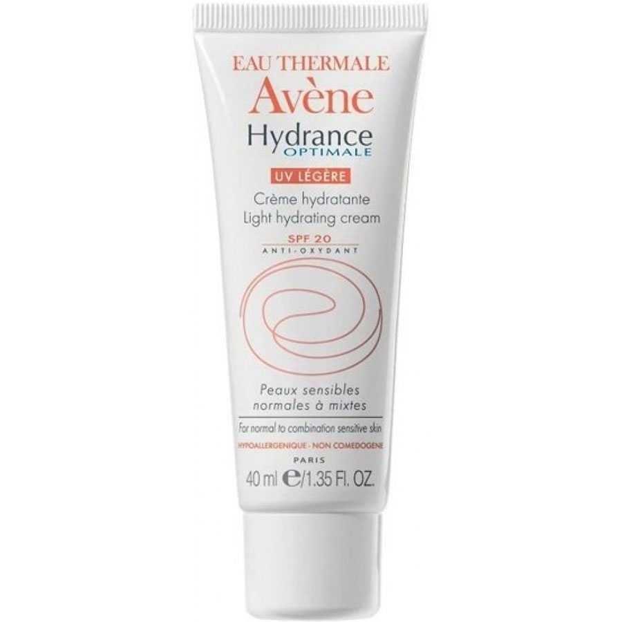 Дневной уход Avene Гидранс Оптималь Лежер UV20 40 мл avene крем увлажняющий защищающий hydrance оптималь uv20 риш для сухой кожи лица 40 мл