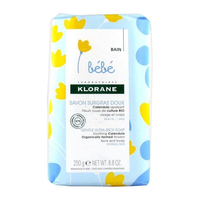 Набор Klorane Детское сверхпитательное мыло (Набор: Детское сверхпитательное мыло 250 гр + Очищающая мицеллярная вода 25 мл) klorane мицеллярная вода klorane bebe 500 мл очищающая