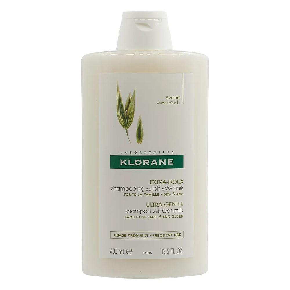 Набор Klorane Шампунь Сверхмягкий с Молочком Овса (Набор: шампунь, 200 мл + сухой шампунь для темных волос, 50 мл)
