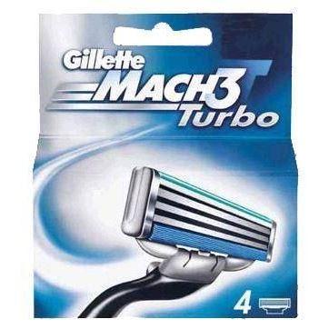 Кассеты Gillette Mach3 Turbo - 4 Сменные Кассеты (4 шт. (eng)) недорого