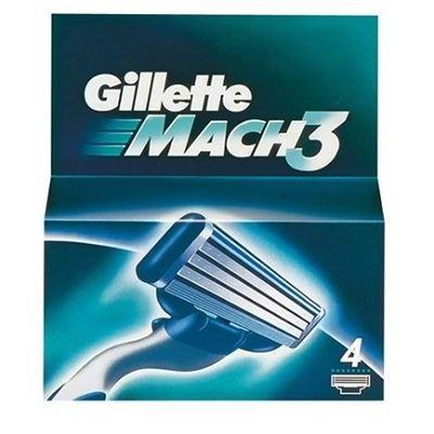 Кассеты Gillette Mach3 - 4 Сменные Кассеты (4 шт)