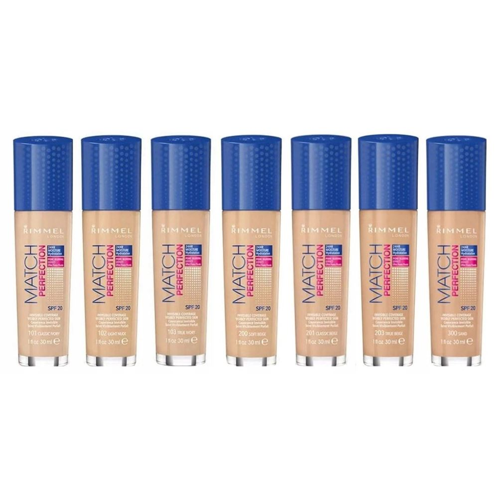 Тональный крем Rimmel Match Perfection Foundation (100) rimmel rimmel тональный крем match perfection 200